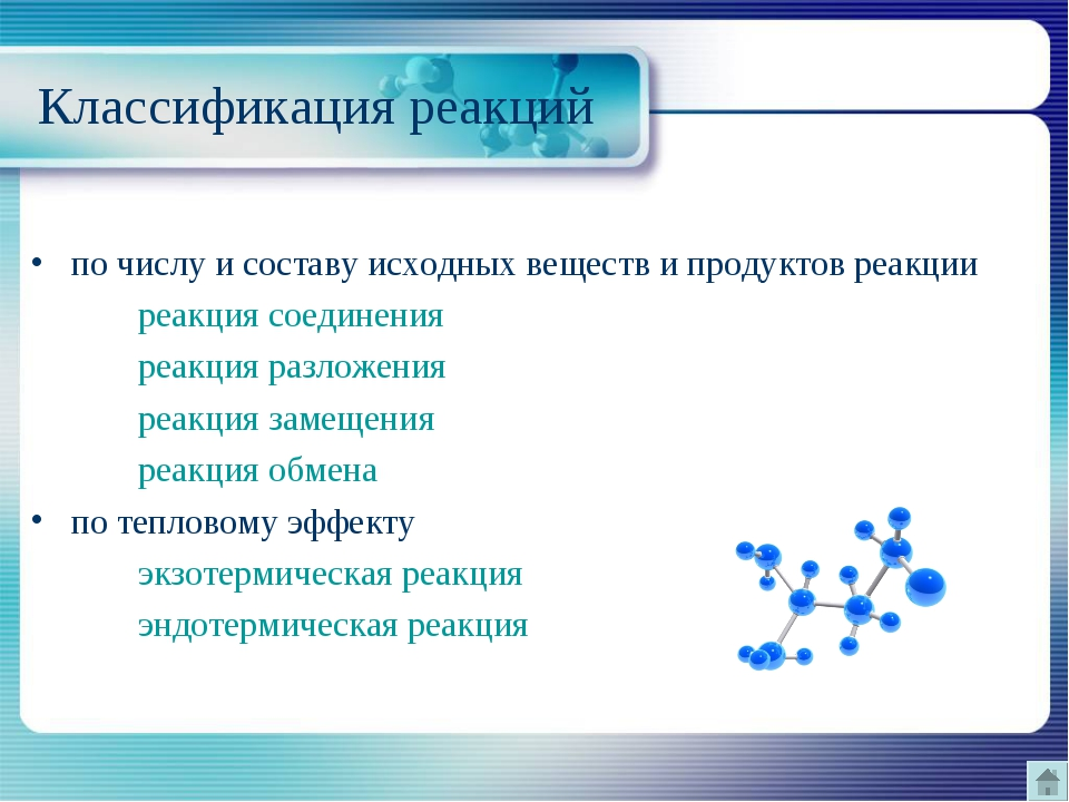 Классификация реакций по числу и составу исходных веществ и продуктов реакци...