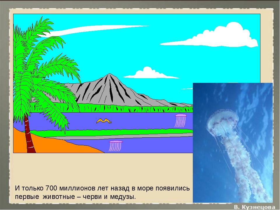 И только 700 миллионов лет назад в море появились первые животные – черви и м...