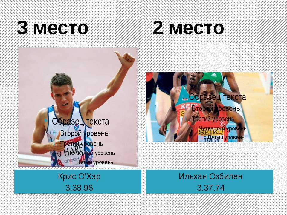 3 место 2 место Крис О'Хэр 3.38.96 Ильхан Озбилен 3.37.74