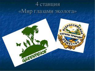 4 станция «Мир глазами эколога»