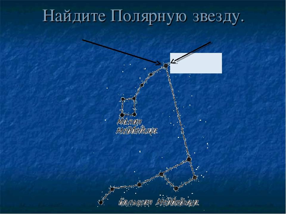 Найдите Полярную звезду.
