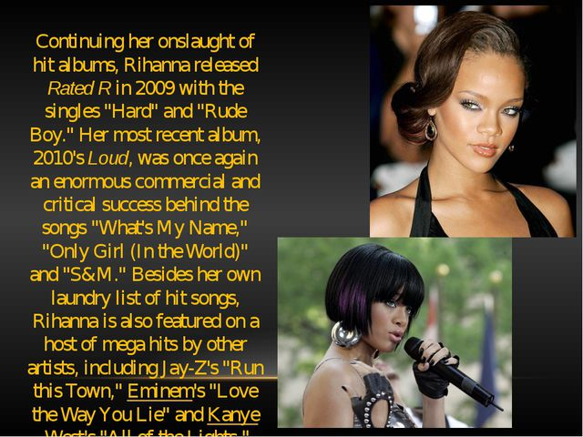 Continuing her onslaught of hit albums, Rihanna released Rated R in 2009 with...