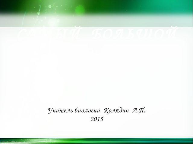 САМЫЙ БОЛЬШОЙ УРОК Школа для всех Учитель биологии Колядич Л.П. 2015 http://l...