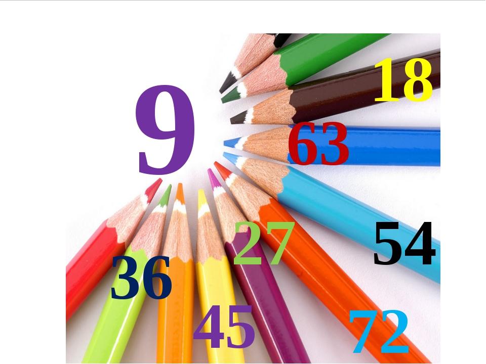18, 36, 54, 45, 72, 81, 63 Стр.89 №4