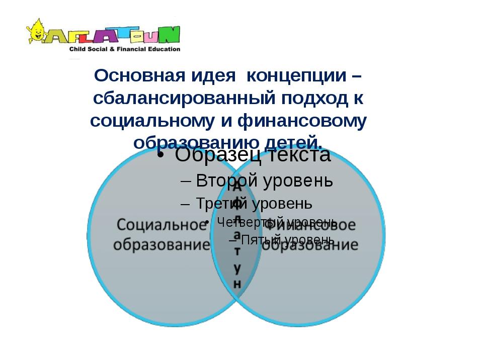 Основная идея концепции – сбалансированный подход к социальному и финансовому...