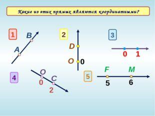 1 А В 3 1 0 O 4 0 C 2 2 D O 0 5 5 6 F M Какие из этих прямых являются коорди