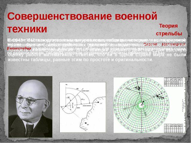 Совершенствование военной техники Теория стрельбы В апреле 1942 года коллекти...