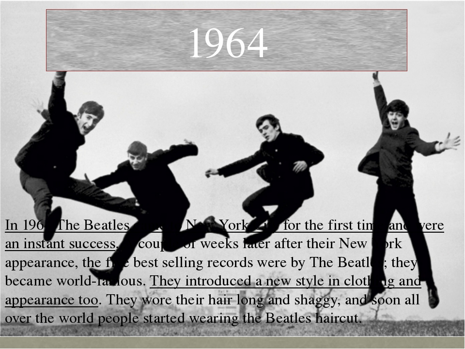 In 1964 The Beatles came to New York City for the first time and were an inst...