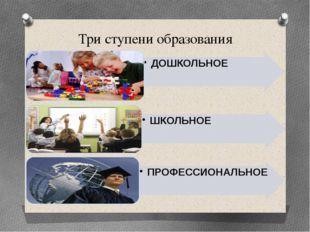 Три ступени образования