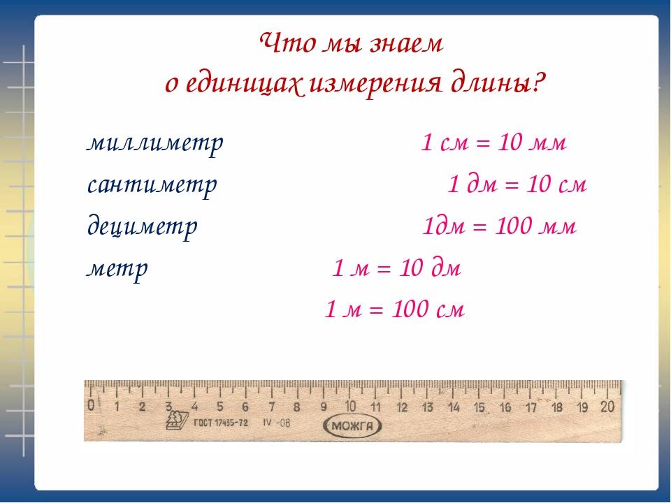 Сколько делений на линейке 1) какие единицы измерения на этой линейке?