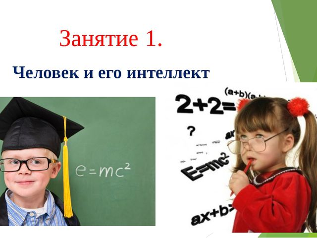 Занятие 1. Человек и его интеллект