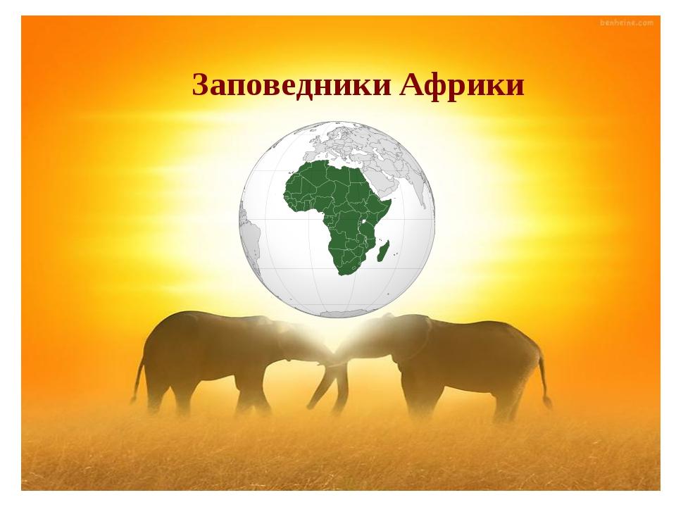 Заповедники Африки