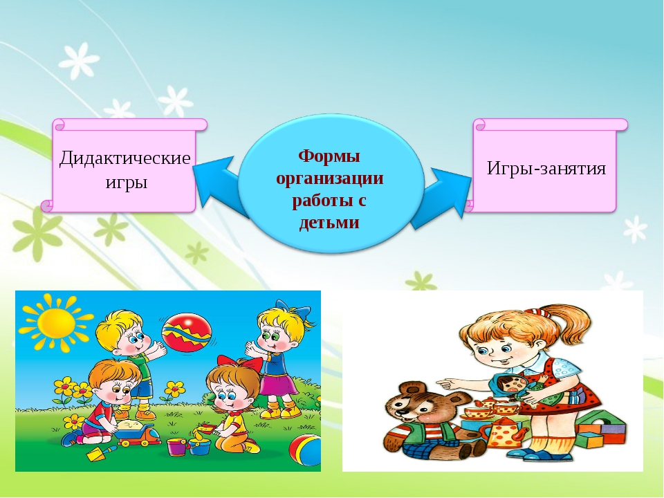Дидактические игры Игры-занятия Формы организации работы с детьми