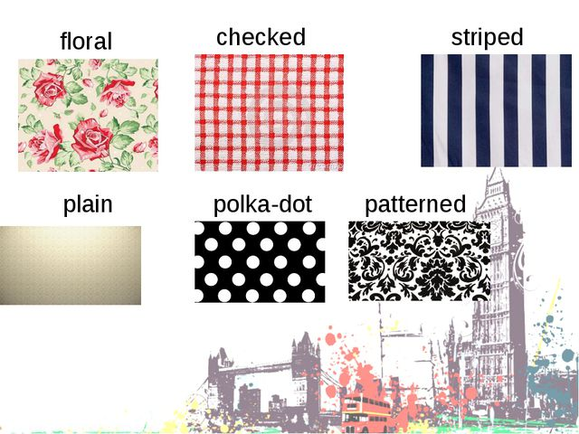 floral striped checked plain polka-dot patterned