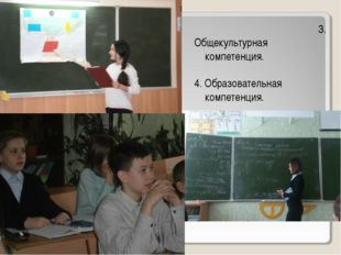 3. Общекультурная компетенция. 4. Образовательная компетенция.