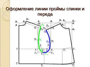Оформление линии проймы спинки и переда