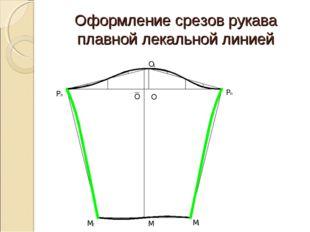 Оформление срезов рукава плавной лекальной линией
