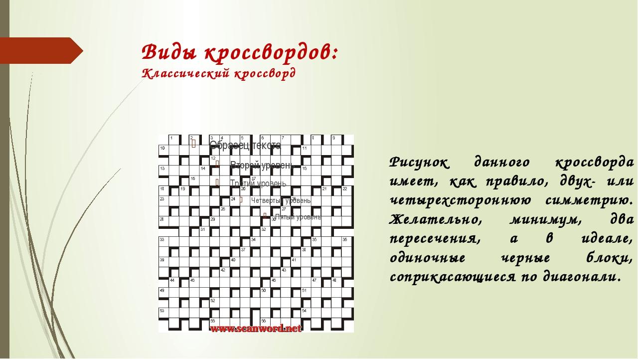 Как сделать кроссворд на русском
