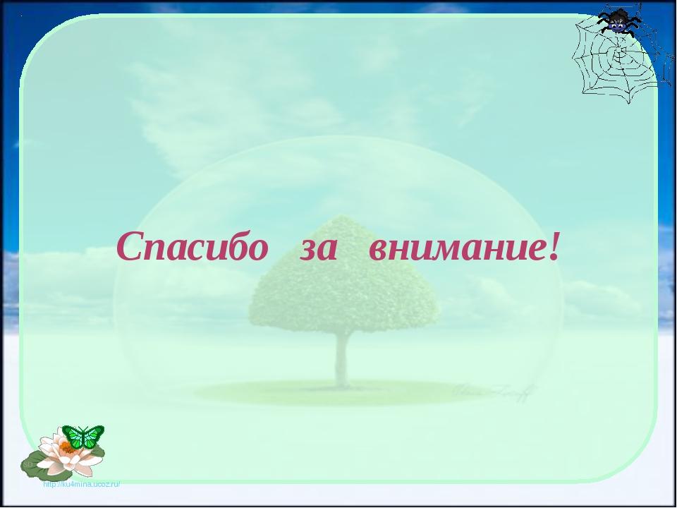 Спасибо за внимание! http://ku4mina.ucoz.ru/