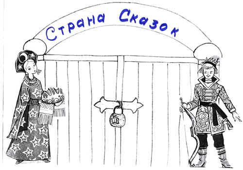 """Плакат-ворота с надписью """"Страна сказок"""""""