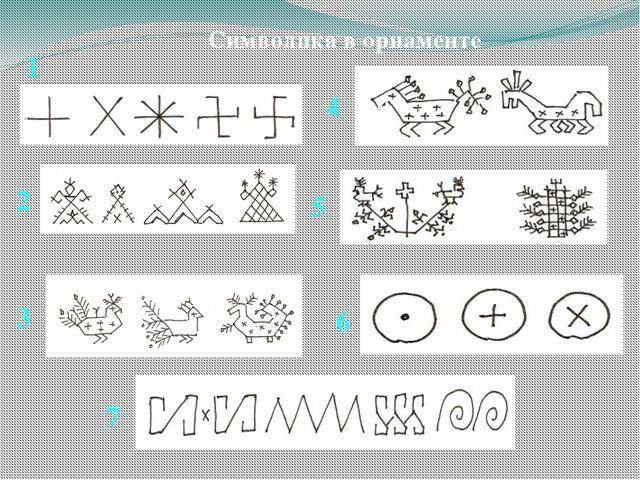 Символика в орнаменте 1 2 3 4 5 6 7