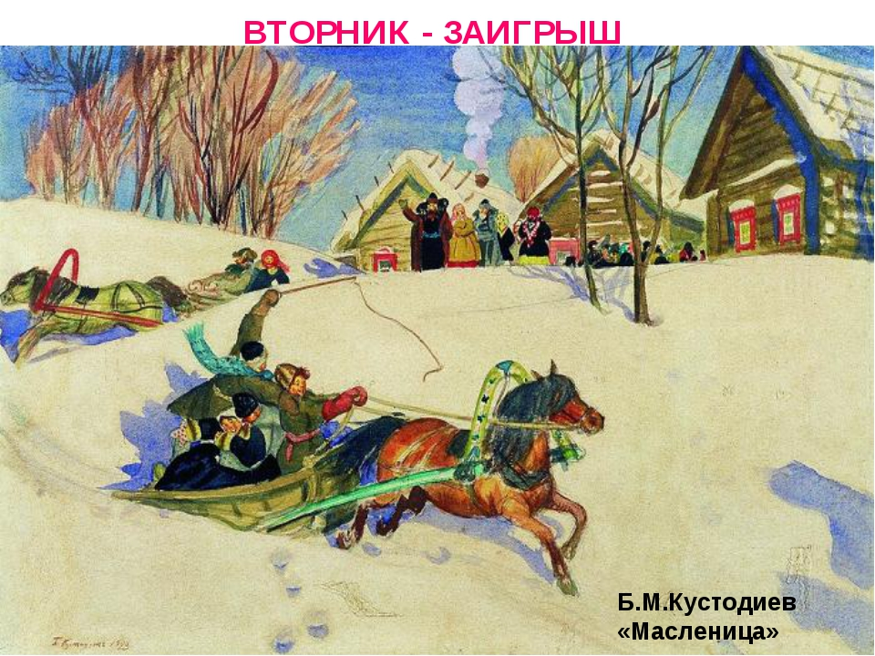ВТОРНИК - ЗАИГРЫШ Б.М.Кустодиев «Масленица»