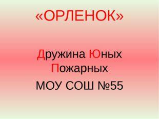 «ОРЛЕНОК» Дружина Юных Пожарных МОУ СОШ №55
