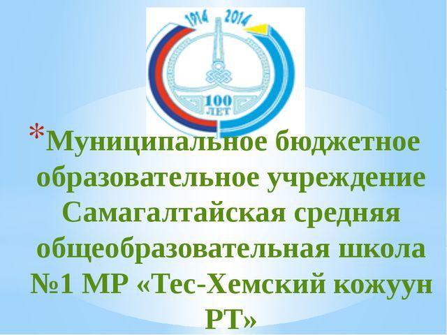Муниципальное бюджетное образовательное учреждение Самагалтайская средняя общ...