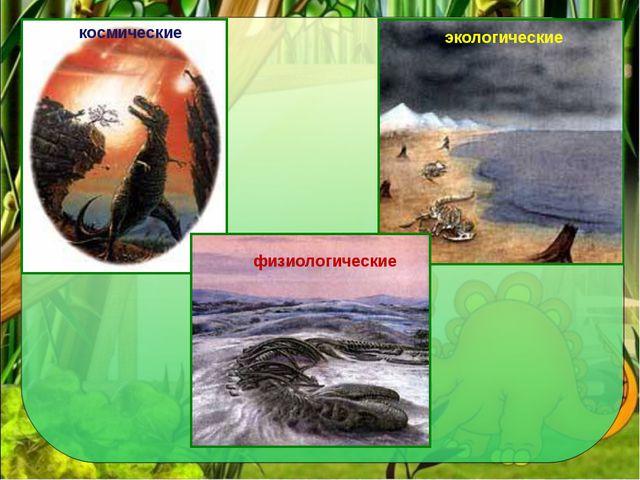 космические физиологические космические экологические
