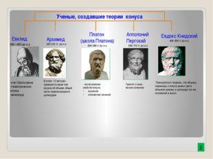 Архимед 287-212 гг. до н.э. Платон (школа Платона) 428-348 гг до н.э. Ученые,