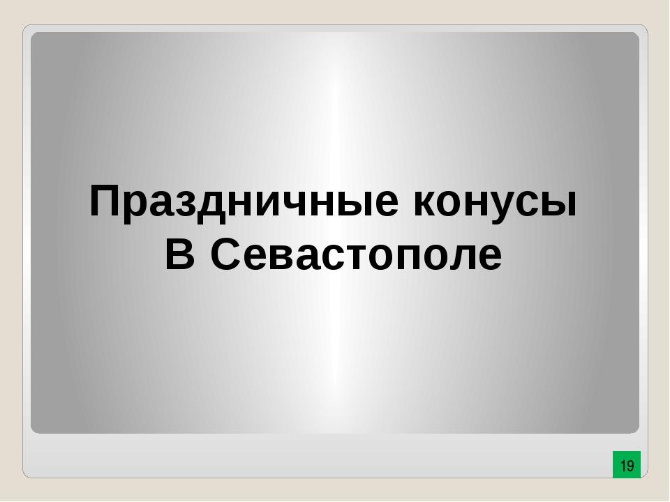 Праздничные конусы В Севастополе 19