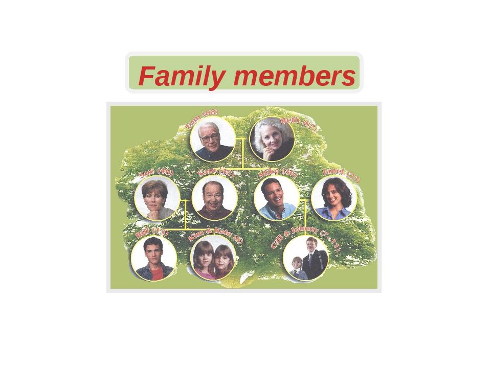 Family members