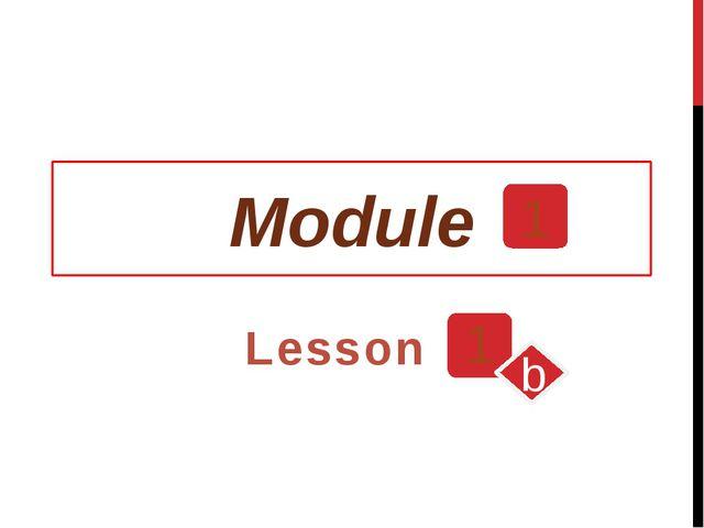 Module 1 Lesson 1 b