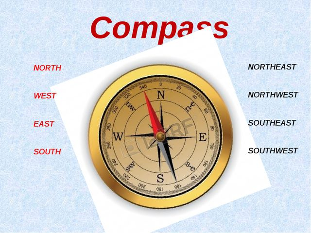 Compass NORTH WEST EAST SOUTH NORTHEAST NORTHWEST SOUTHEAST SOUTHWEST