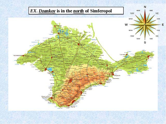 Crimea EX. Dzankoy is in the north of Simferopol