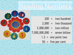 Reading Numbers