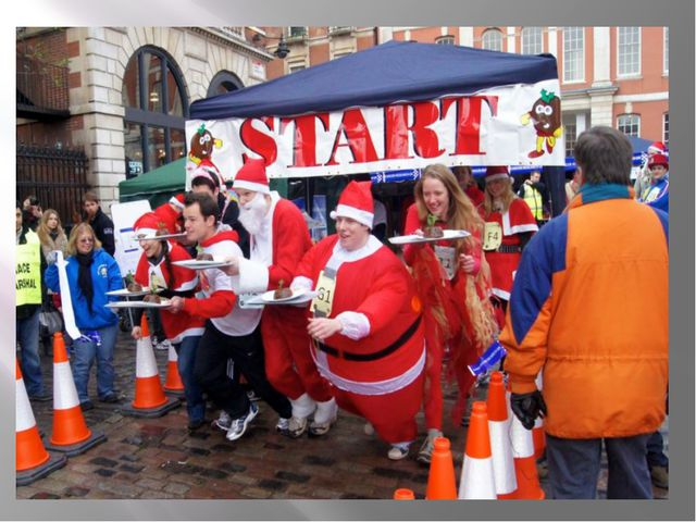 Великая Рождественская Гонка Пудинга – Лондон и Брайтон. Бросание черного пу...