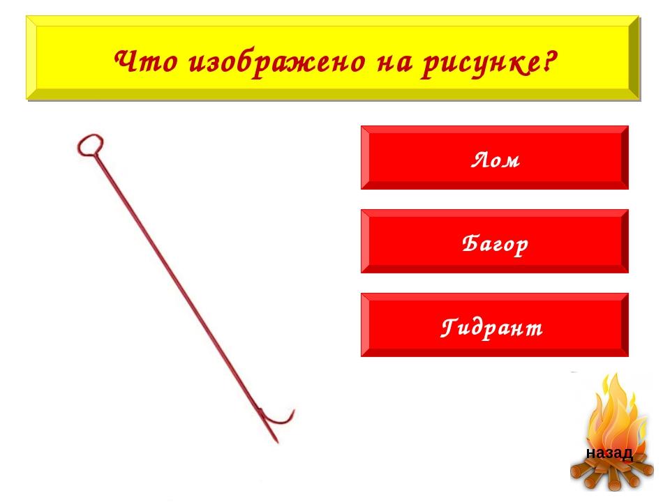 Багор Гидрант Лом Что изображено на рисунке?