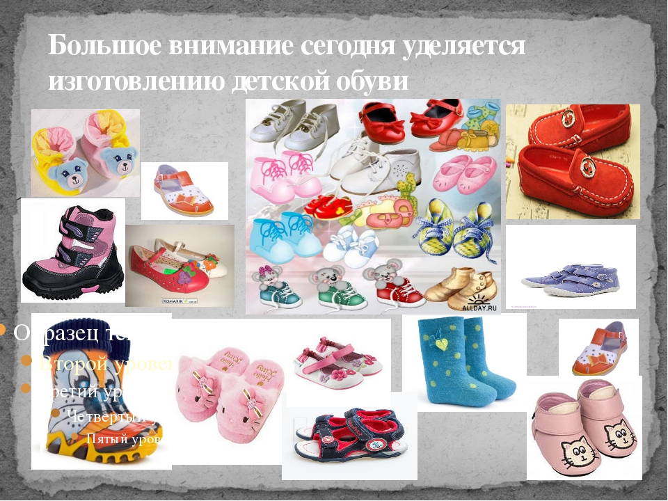 Большое внимание сегодня уделяется изготовлению детской обуви