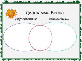 Диаграмма Венна Односоставные Двусоставные