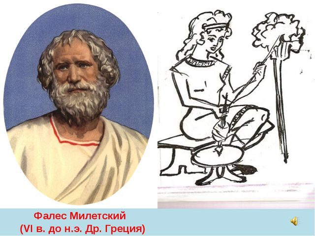 Фалес Милетский (VI в. до н.э. Др. Греция)