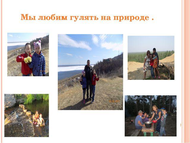 Мы любим гулять на природе .