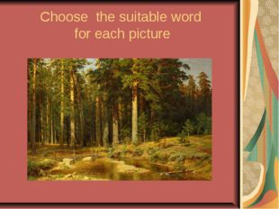 Choose the suitable word for each picture