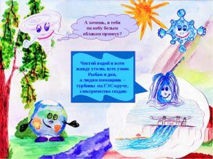 Чистой водой я всем жажду утолю, всех умою. Рыбам я дом, а людям помощник – т