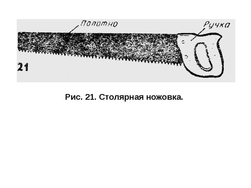 Рис. 21. Столярная ножовка.