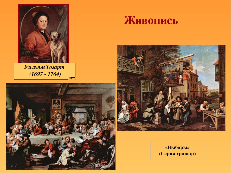 Живопись Уильям Хогарт (1697 - 1764) «Выборы» (Серия гравюр)