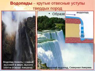 Водопады – крутые отвесные уступы твердых пород Ниагарский водопад, Северная
