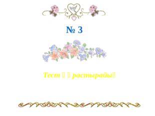 Тест құрастырайық № 3