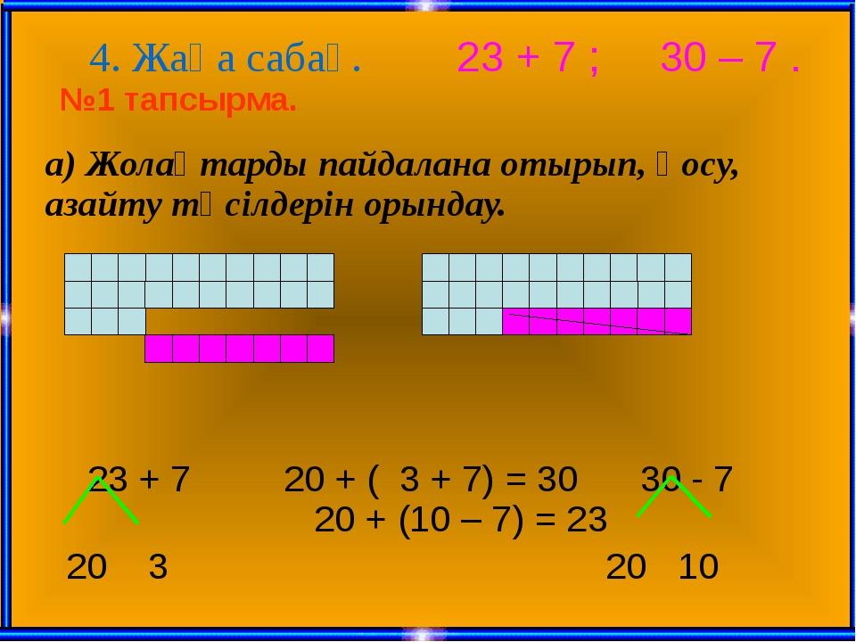 ә) Түсіндіре отырып, тақтада шығарту. (оқулықпен жұмыс) 42+8 40 + ( 2 + 8) =...