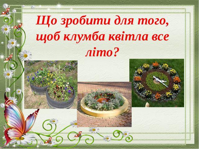 Що зробити для того, щоб клумба квітла все літо?